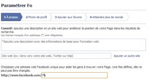 créer sa page Facebook